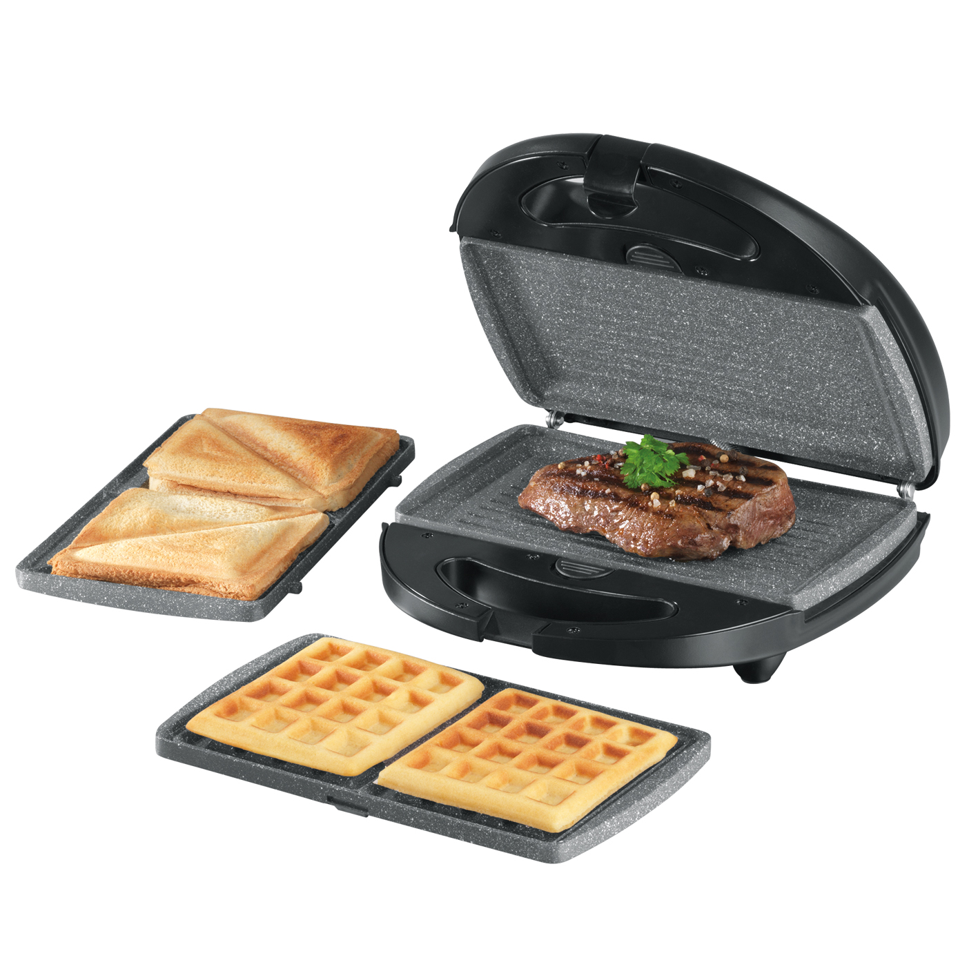 gourmetmaxx tischgrill granit optik 800w sandwichtoaster ebay. Black Bedroom Furniture Sets. Home Design Ideas