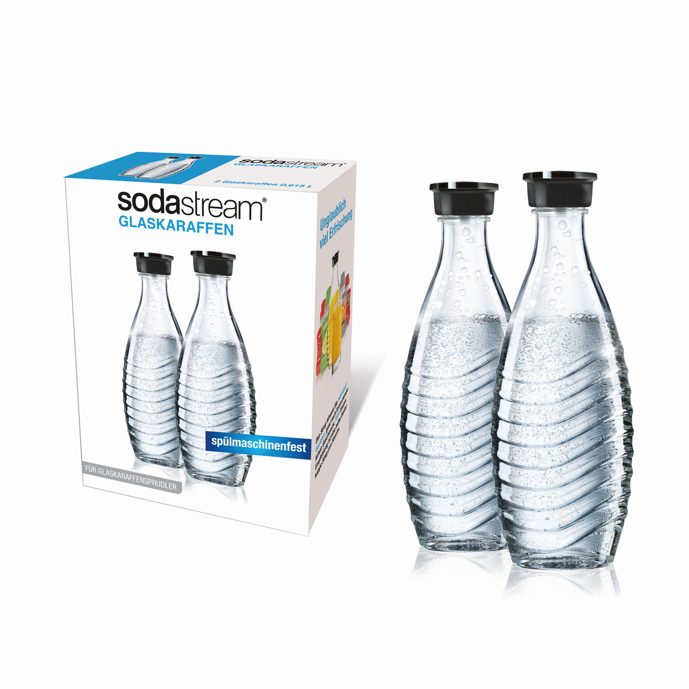 sodastream duopack glaskaraffe f r penguin und crystal 2x 0 6l wassersprudler ebay. Black Bedroom Furniture Sets. Home Design Ideas