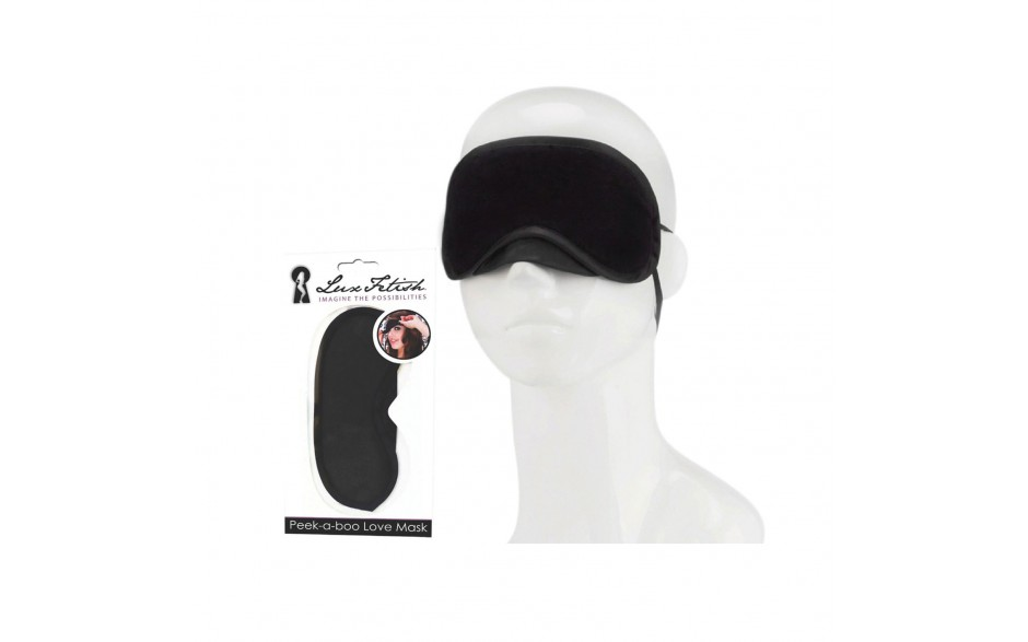 "Hit the Hay Box ""Strohfeuer"" - LUX FETISH Peek-a-boo Love Mask black"