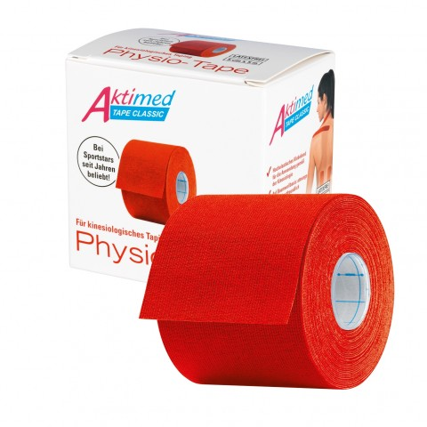 Aktimed TAPE CLASSIC   klassisches Physio-Tape für kinesiologisches Taping   rot