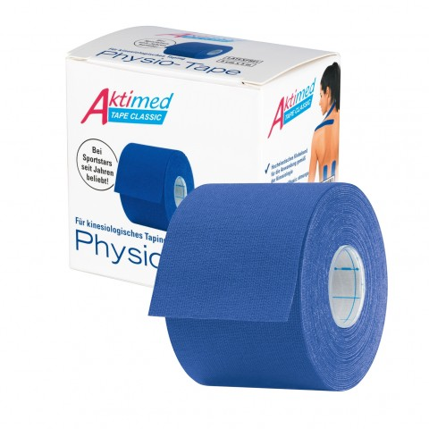 Aktimed TAPE CLASSIC   klassisches Physio-Tape für kinesiologisches Taping   dunkelblau