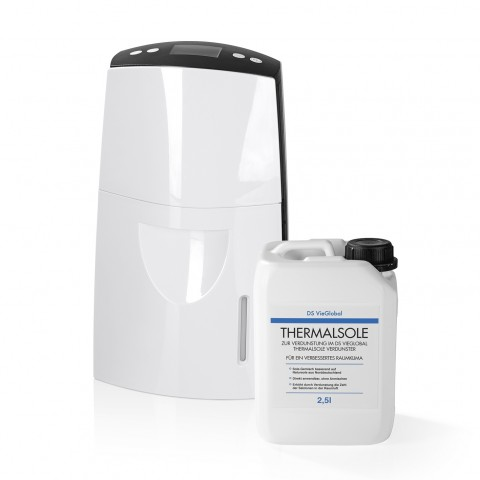 DS VieGlobal Thermalsole-Set - Verdunster & Thermalsole 2,5 l - weiß/grau