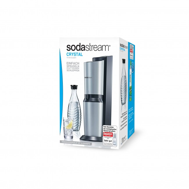 sodastream crystal schwarz. Black Bedroom Furniture Sets. Home Design Ideas