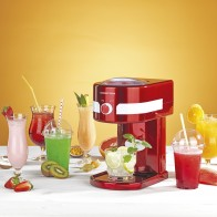 GOURMETmaxx Eismaschine Slush & Crushed Ice 30W in Rot/Weiß