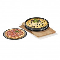 GOURMETmaxx Grill- & Pizza-Backform 3in1 31 cm - Schwarz