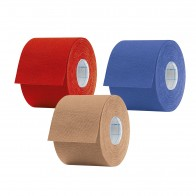 Aktimed TAPE CLASSIC | klassisches Physio-Tape für kinesiologisches Taping | 3-teilig: 1x rot, 1x blau, 1x beige