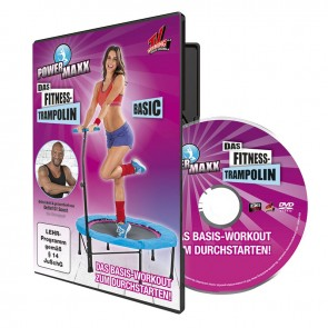 POWER MAXX Fitness-Trampolin Trainings-DVDs 3er-Set