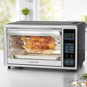 GOURMETmaxx Infrarot-Ofen mit Digital-Display 28 l in Silber