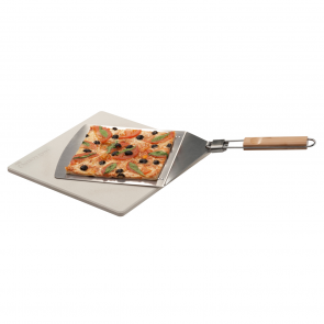 LANDMANN Selection Pizza-Set, Pizzaheber & Pizzastein