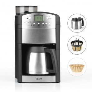 BEEM FRESH-AROMA-PERFECT Filter-Kaffeemaschine mit Mahlwerk - Thermo