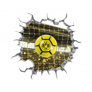 BVB LED-Lampe in Ballform mit 3D-Wandtattoo