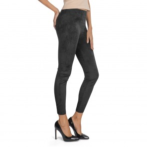 SLIMmaxx Leggings Wildlederoptik in Schwarz - Freisteller 1