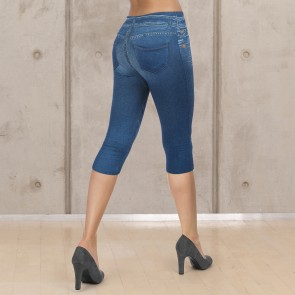 SLIMmaxx Jeans-Leggings 3/4 - Blue Denim - Gr. 42/44