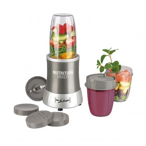 GOURMETmaxx Nutrition Mixer 11-teiliges Set in Grau - Freisteller