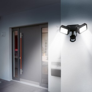 EASYmaxx Security LED-Doppelstrahler 8 W in Schwarz
