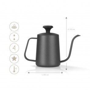 BEEM POUR OVER Wasserkessel mit Thermometer - 0,5 l