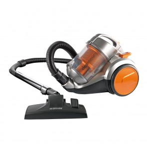 CLEANmaxx Zyklon-Staubsauger Pet Star 700 W in Orange-Silber - Freisteller