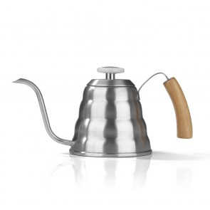 BEEM POUR OVER Wasserkessel mit Thermometer - 1,2 l | CLASSIC SELECTION | Edelstahl | Bambus