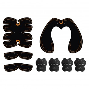 MAXXMEE Muskelstimulations-Set - 4-tlg. - schwarz/orange