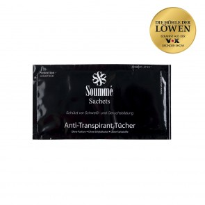 Soummé Antitranspirant Protection Sachets/ Tücher for Men - 14 Stück - 8,5 ml je Tuch (119 ml) - Kosmetikum