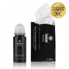 Soummé Antitranspirant Protection Roll-On/Sachets for Men - 50 ml/14 Tücher 8,5 ml je Tuch (119 ml) - Kosmetikum