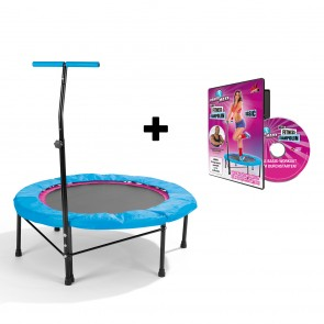 POWER MAXX Fitness-Trampolin + Training DVD Basic - Lieferumfang